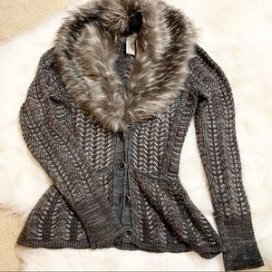 Cache Faux Fur Cardigan